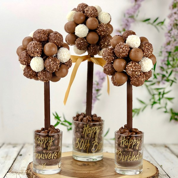 Personalised Chocolate Mixed Truffle Sweet Tree by Browns