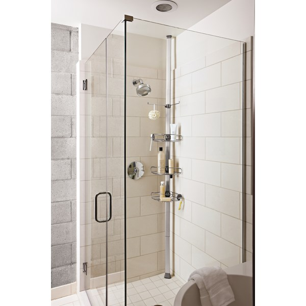 TENSION SHOWER CADDY Stainless Steel and Anodized Aluminum