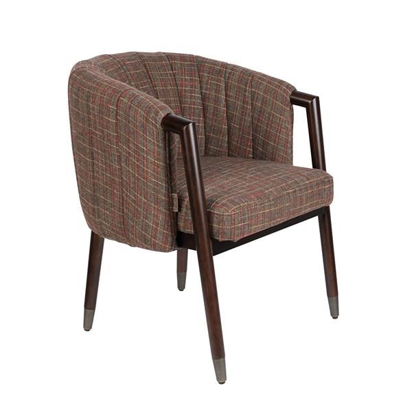 Tartan Pattern Upholstered Chair