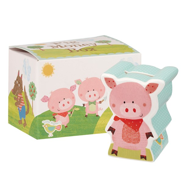 Three Little Pigs Money Box with Gift Box