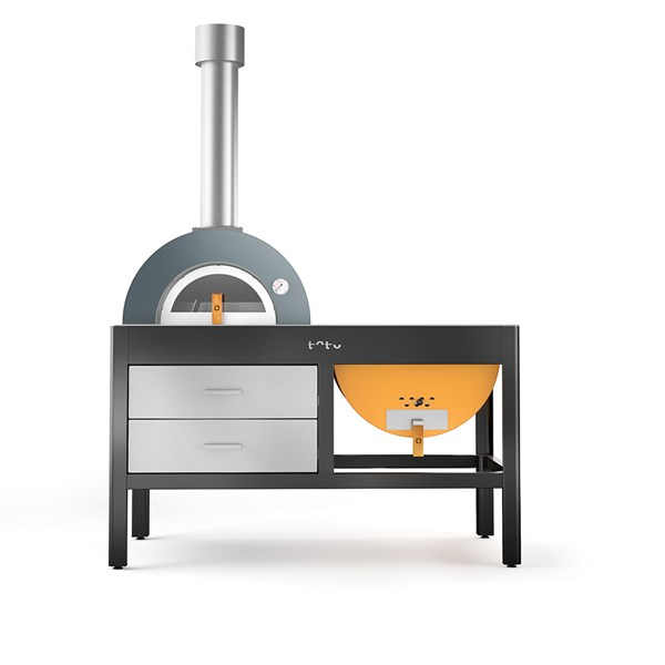 Toto Wood Fired Pizza Oven and Grill in Yellow