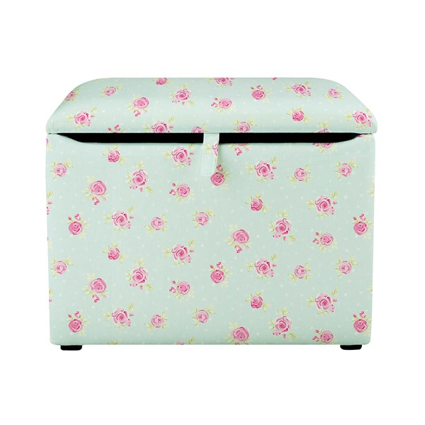 Childrens Storage Box for Toys with Flowers print