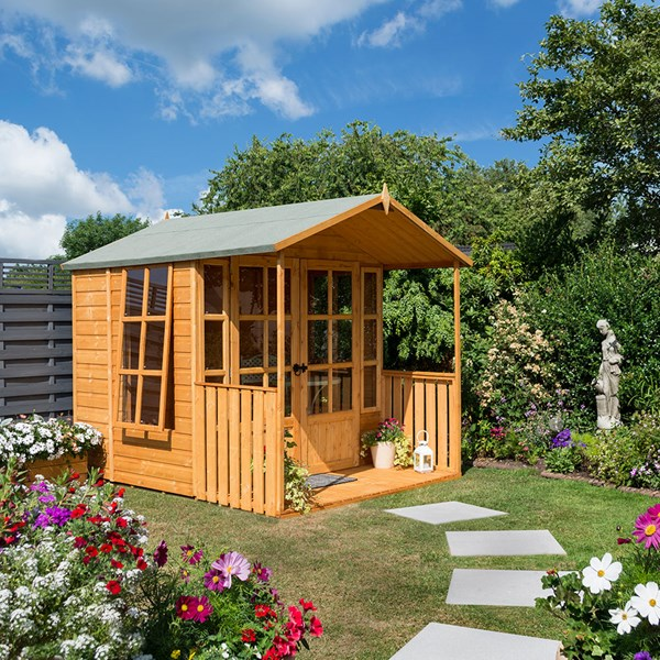 Dipped Honey Brown Garden Summer House