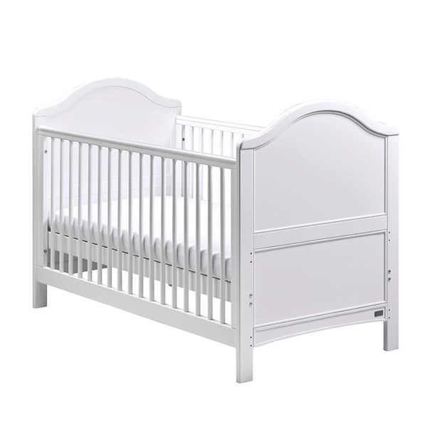 Contemporary White Cot Bed and Toddler Bed