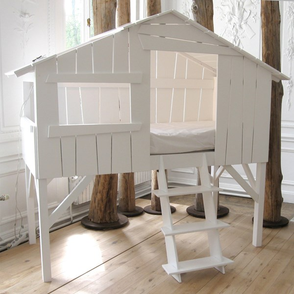 White Treehouse Single Cabin Bed for Kids