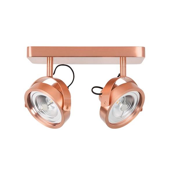 Zuiver Dice-2 Ceiling Spotlight in Copper