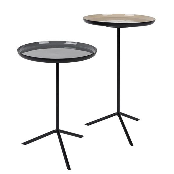 Zuiver Set of 2 Trip Side Tables in Enamel
