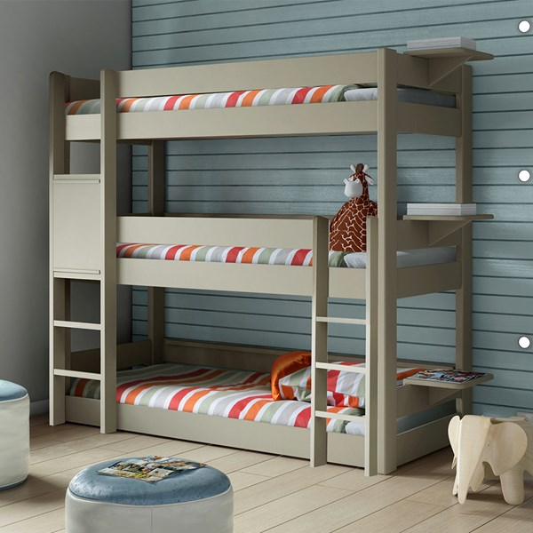 Kids Triple Bunk Bed in Dominique Design by Mathy By Bols