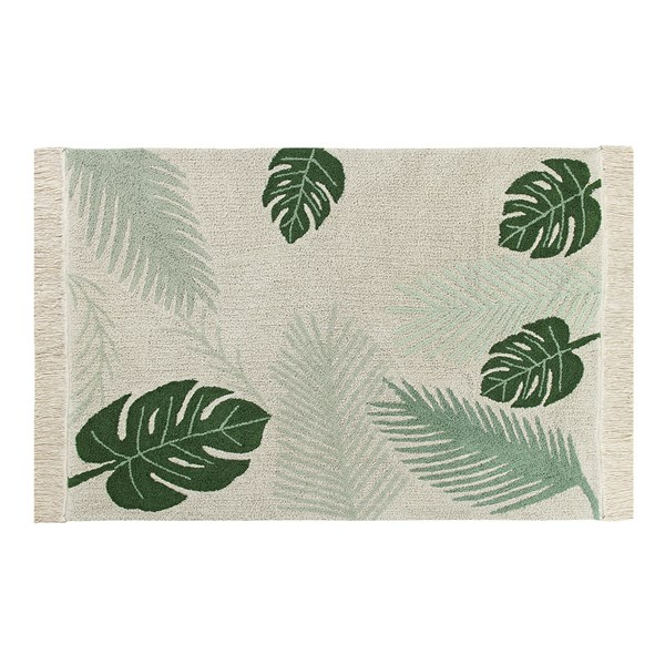 Botanical Leaf Design Stylish Rug