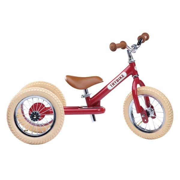 Trybike 2 in 1 Balance Trike in Vintage Red