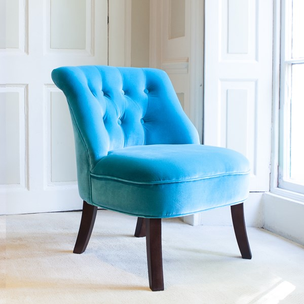 Velvet Tub Chairs in Turquoise
