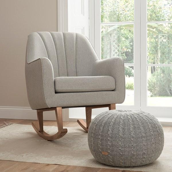 Tutti Bambini Noah Rocking Chair and Pouffe Set in Grey