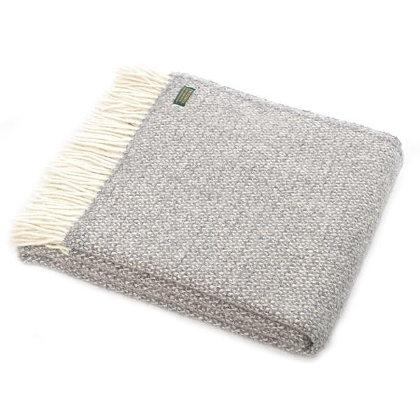 Tweed Grey Wool Throw