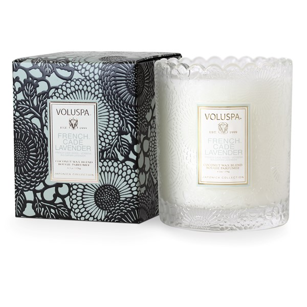 VOLUSPA Scented Candle - Japonica Glass Candle in French Cade & Lavender