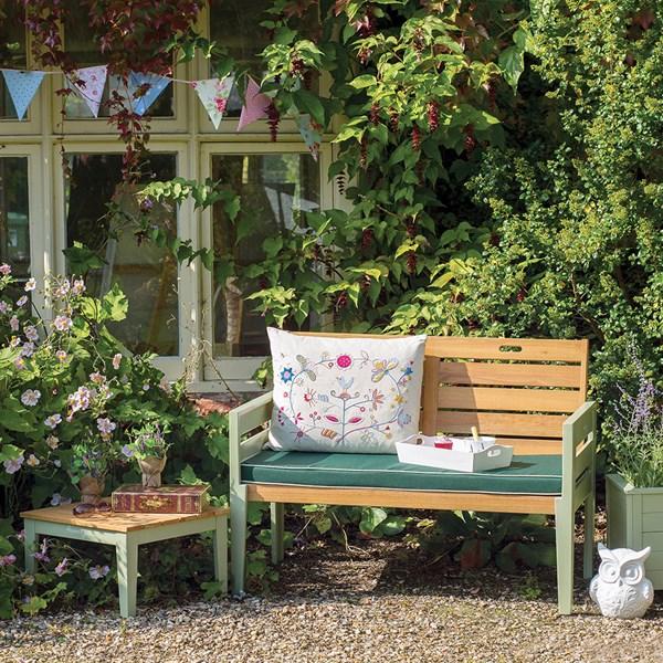 2 Seat Vintage Style Garden Bench
