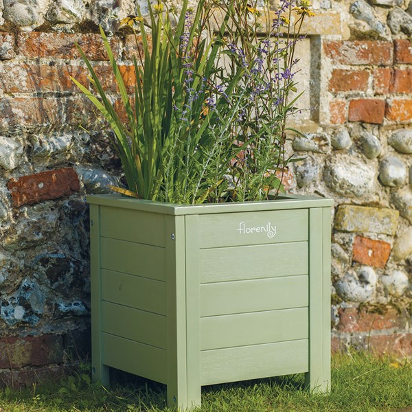Verdi Square Wooden Garden Planter