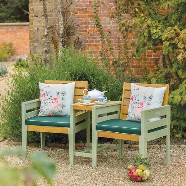 Garden Wooden Tete A Tete Love Seat Bench