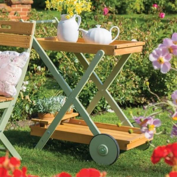 Vintage Wheeled Garden Tea Trolley