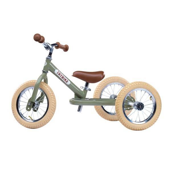 Trybike 2 in 1 Balance Trike in Vintage Green