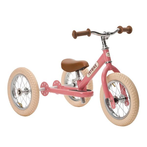 Trybike 2 in 1 Balance Trike in Vintage Pink