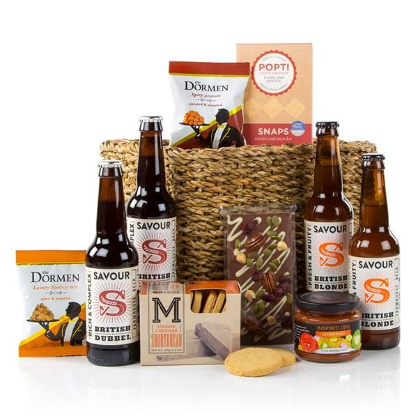 Men's Luxury Food and Specialist Beer Gift Basket