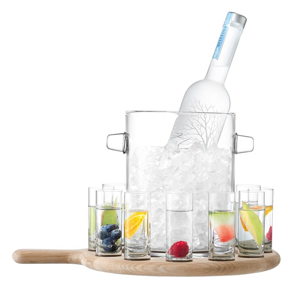 Vodka Serving Paddle with Ice Bucket