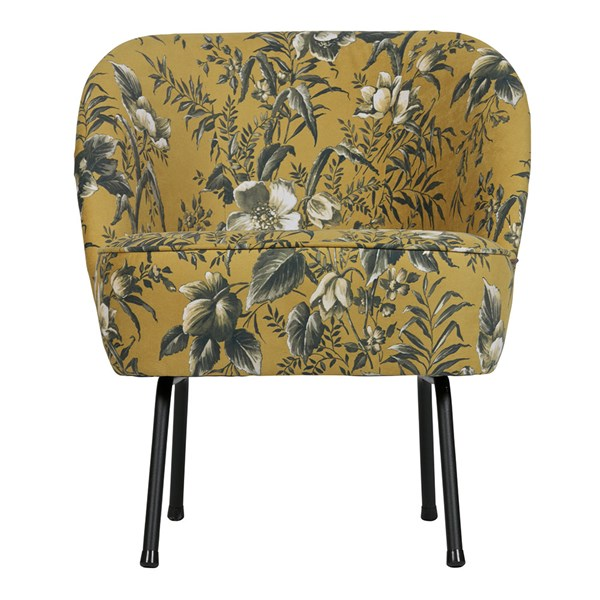 Vogue Velvet Armchair in Poppy Mustard by BePureHome