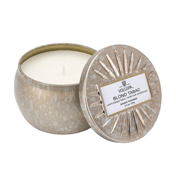 Voluspa Mini Candle Tin in Blond Tabac