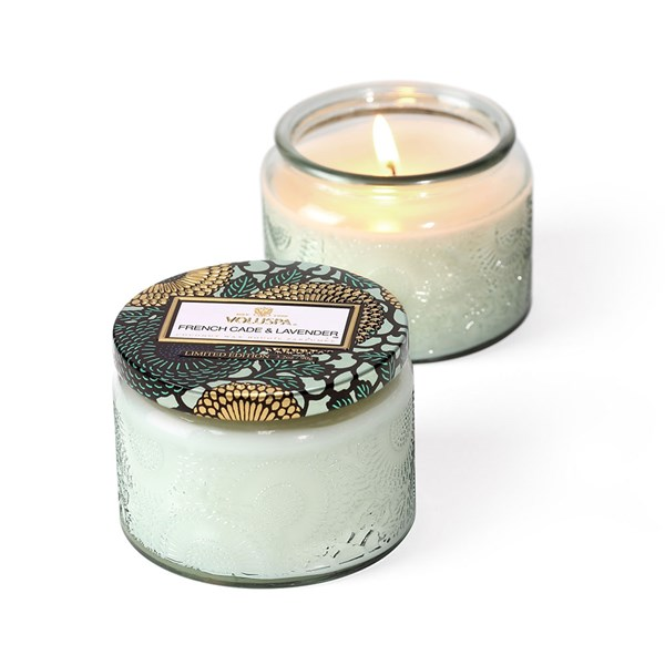 Voluspa Petite Glass Jar Candle in French Cade and Lavender
