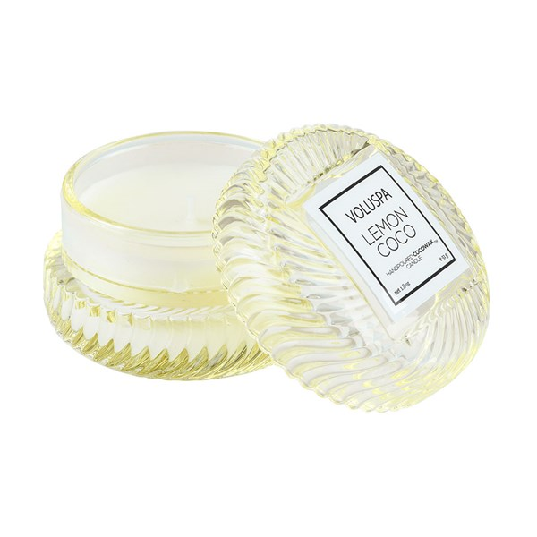 Voluspa Glass Macaron Candle in Lemon Coco