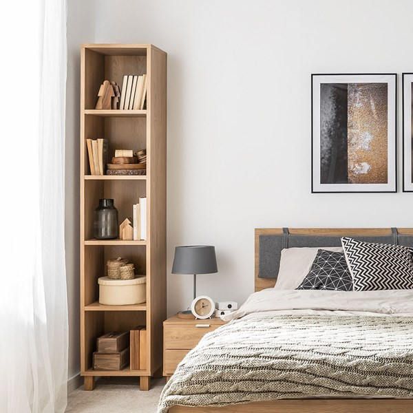 Vox Simple Narrow Single Bookcase