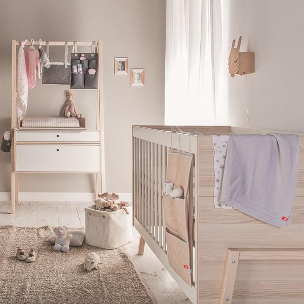 Vox Spot 2 Piece Nursery Set in White & Acacia
