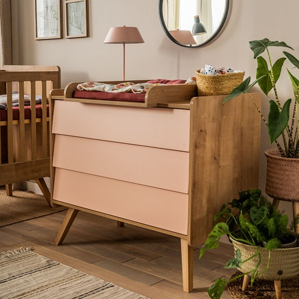 Vox Vintage Chest of Drawers in a Choice of Oak or 5 Pastel Colours