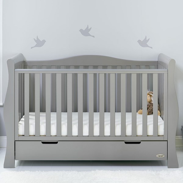 Obaby Stamford Luxe Cot Bed in Warm Grey