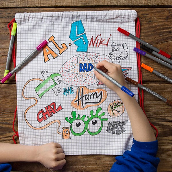 Kids Doodle Backpack With Set of Wash Out Pens