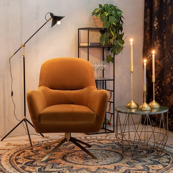 Velvet Retro Style Comfy Chair