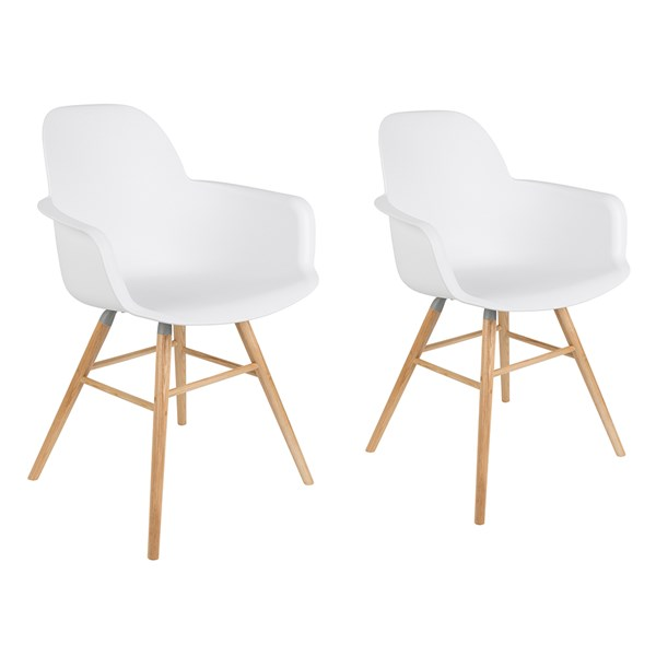 A Pair of Albert Kuip Retro Moulded Armchairs in White