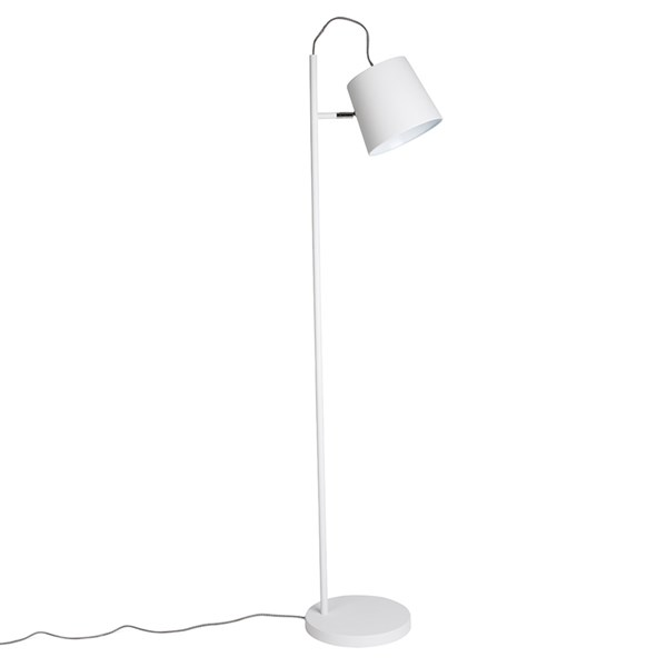 Zuiver Buckle Head Floor Lamp in White