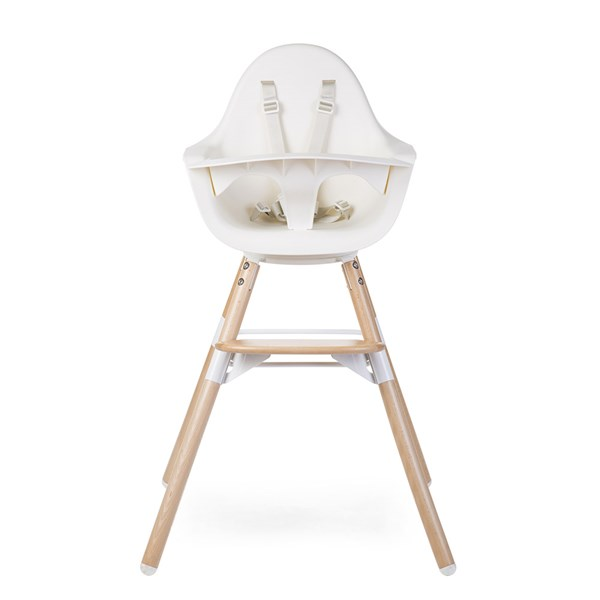 2 in 1 Evolu One.80º High Chair in White
