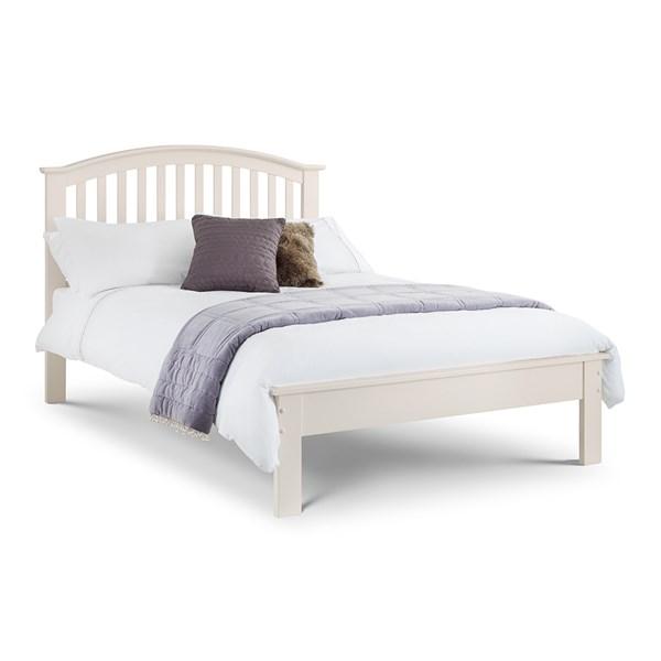 Olivia Double Bed Frame in White by Julian Bowen