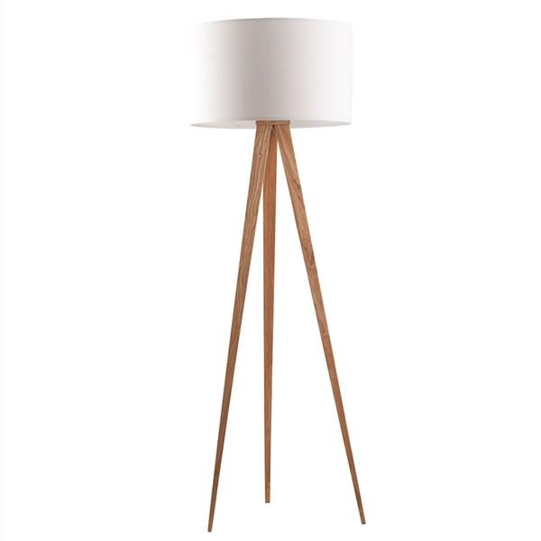 Zuiver Wooden Tripod Floor Lamp