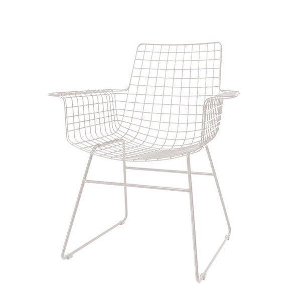 Scandi Style Wire Armchair in White