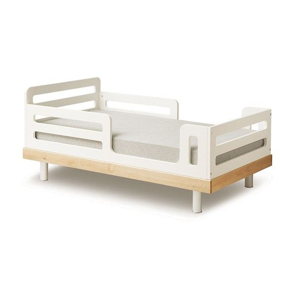 Oeuf Classic Toddler Bed in White and Birch