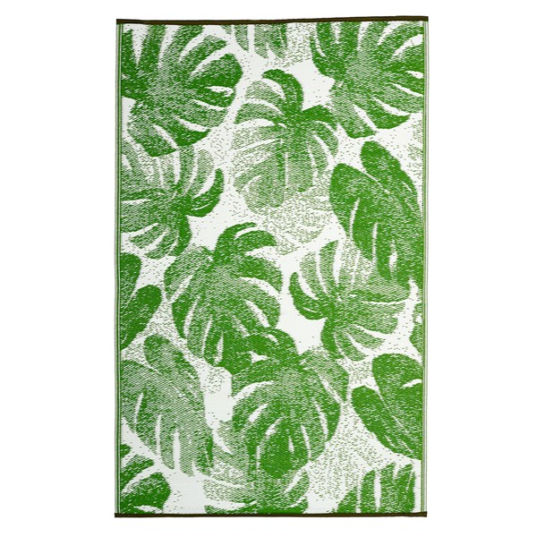 Fab Hab Panama Outdoor Rug in Green