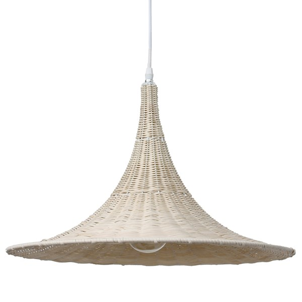 Wicker Trumpet Ceiling Light in Natural
