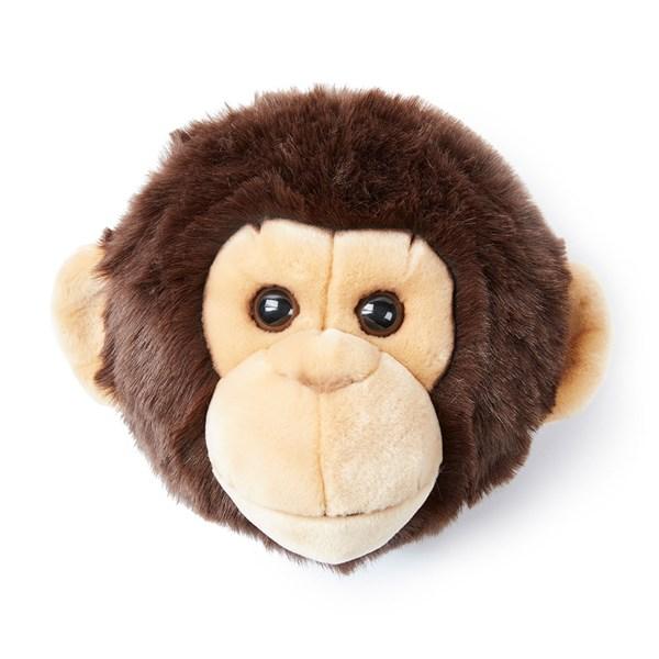 Joe the Monkey Kids Plush Animal Head Wall Decor