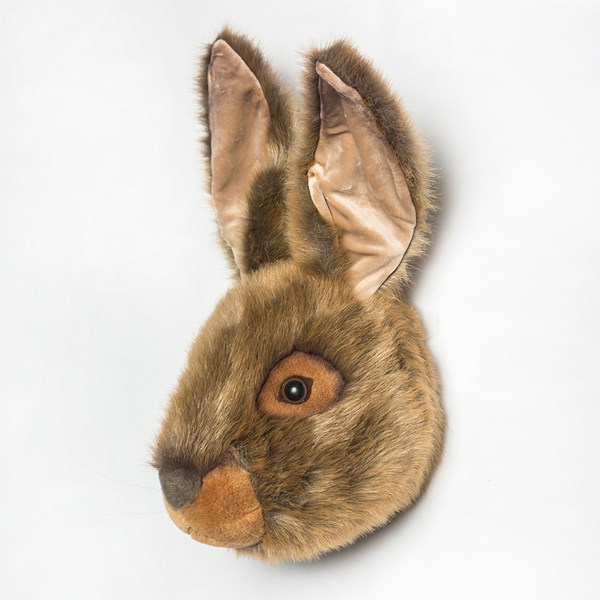 Soft Brown Wall Mounted Hare Rabbit Trophy Head