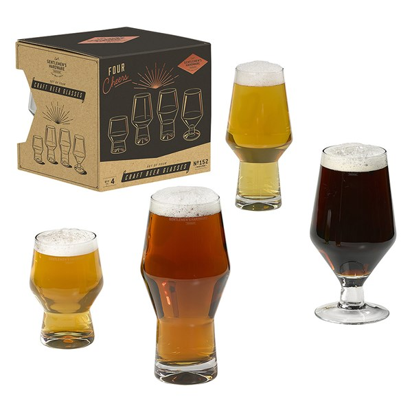 Gentlemen's Hardware Craft Beer Glasses Set of 4