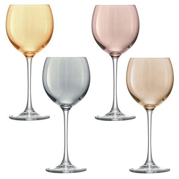 Polka Wine Glasses 4 Pack