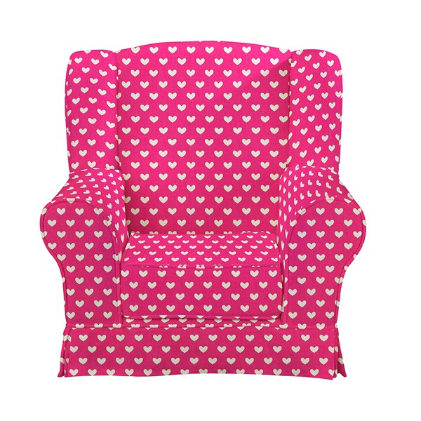 Children's Wingback Armchair in Hearts